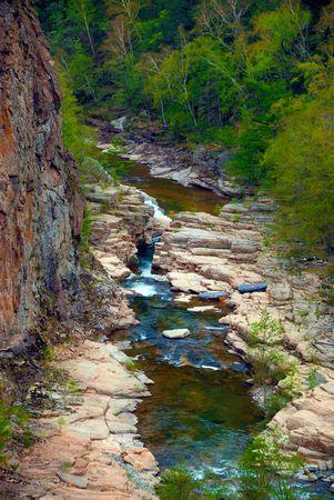 Mountain valley river Milogradovka photo