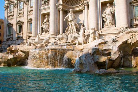 roma antigua: Fuente de Trevi en Roma