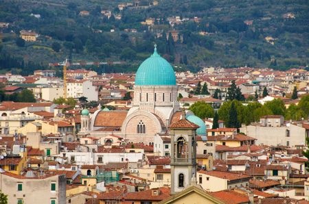 Florence. Top View, Synagogue Stock Photo - 7996604