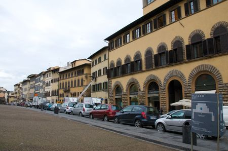 Florence, Italy. The street in front of Pitti Palace