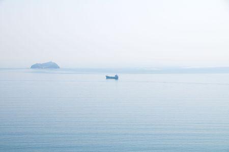 ussuri: Small tanker at sea. Sea of Japan.