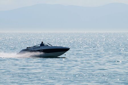 the amur: Vladivostok. Amur Bay. Boat.