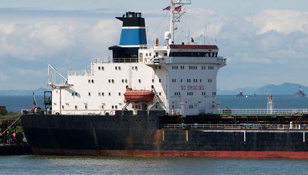 pf: Vladivostok. Amur Bay. Tanker on the background of the detachment of warships PF