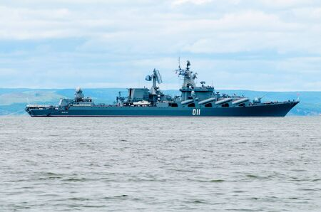 Guards missile cruiser Varyag Stock Photo - 8150846