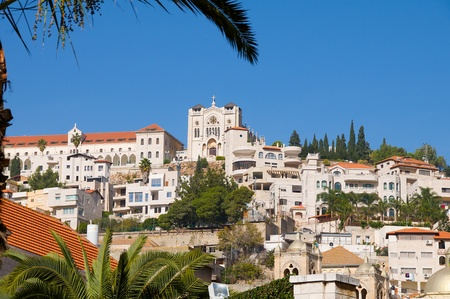 Israel. Nazareth - a city of the Annunciation and the place where the childhood of Christ, lies in the hills of Lower Galilee Stock Photo - 10623180