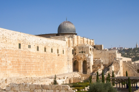dome type: A view of the Al-Aqsa Mosque  Stock Photo
