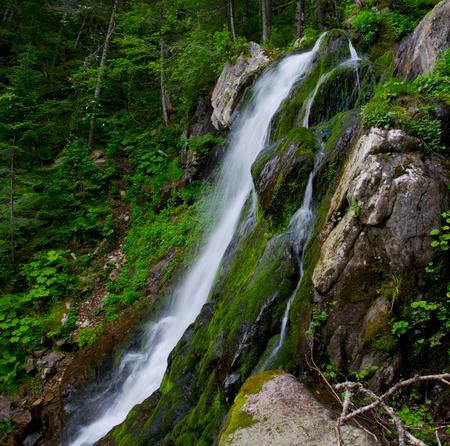 ussuri:  Alexis waterfall in the upper river Padyushki. Stock Photo