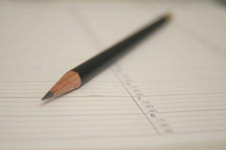 benoeming agenda met potlood
