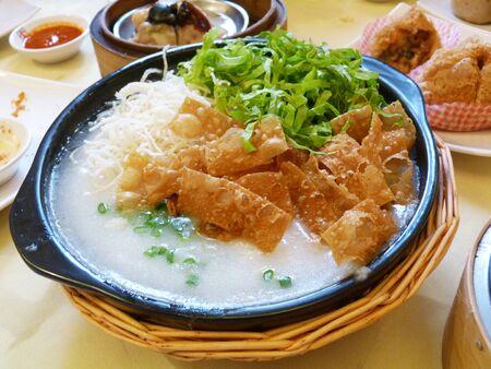 sum: Congee Dim Sum Stock Photo