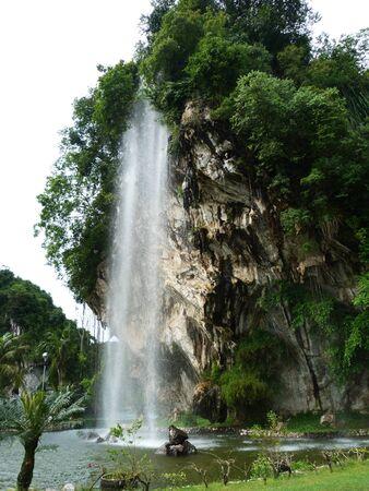 lang: Waterfall Gunung Lang Stock Photo