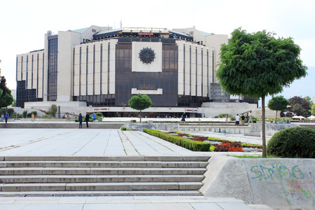 congress center: SOFIA, BULGARIA - CIRCA AUGUST 2013 - National Palace of Culture (Natsionalen dvorets na kulturata in Bulgarian) in the center of Sofia. It is the largest multifunctional congress, conference, convention and exhibition centre in Southeastern Europe. Editorial
