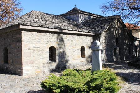 cupolas: Saint Nedelya old Orthodoxian church in Batak, Bulgaria Stock Photo