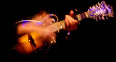mandolin: hands on a mandolin