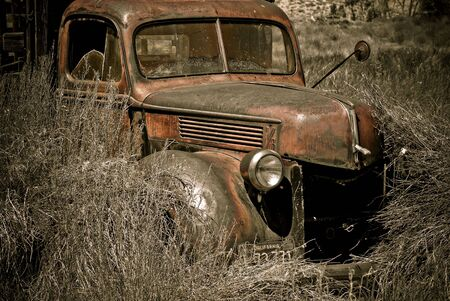 Abandoned truck photographed in the Eastern Sierras of California photo