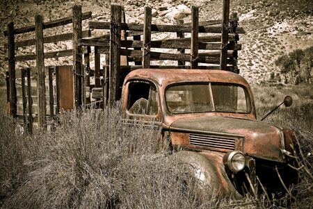 sierras: Abandoned truck photographed in the Eastern Sierras of California