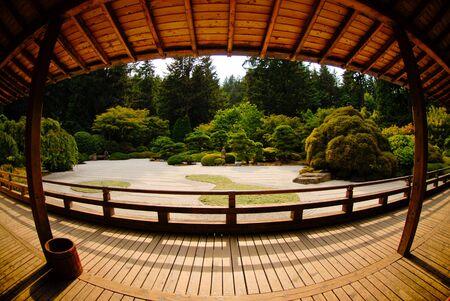 The deck of a Japanese tea house