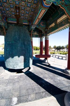 The friendship bell of a Korean memorial photo