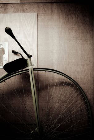 A partial look at a vintage bicycle