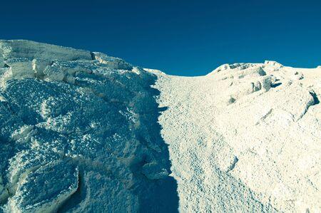 borax: Hills of Borax in Trona, California Stock Photo