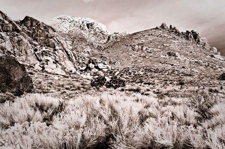 Mountain range in the Eastern Sierras Фото со стока