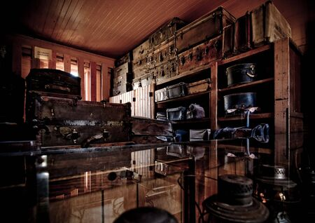 The luggage room of an old train station