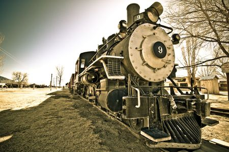 bishop: Retired steam locomotive, Bishop, California