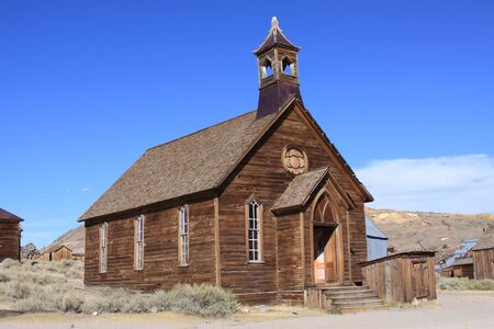 Church in a ghost town of Northern California Reklamní fotografie