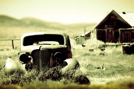 Vintage car in a ghost town in Northern California