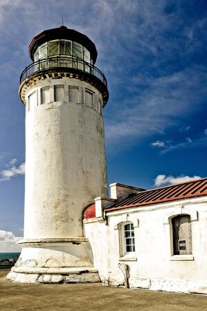 岬の失望、ワシントンの灯台 写真素材 - 8912131