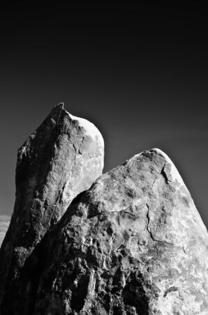 Towering example of the types of rocks found in the Alabama Hills area of California.