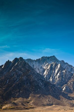 Lone Pine peak photographed from the Alabama Hills area of California. Stock Photo - 11505863