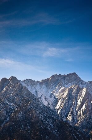 Lone Pine peak photographed from the Alabama Hills area of California. Stock Photo - 11505890