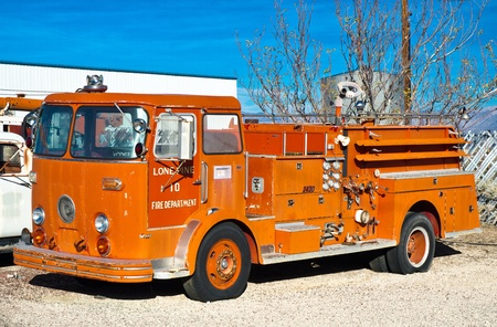 Vintage engine number 10 of the Lone Pine Fire Department, now long retired. photo