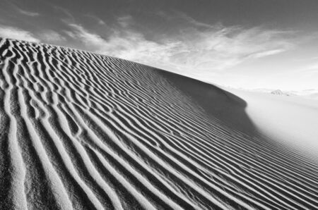 Wind swept sand creating ridges on a Death Valley sand dune in California. Stock Photo - 11505857