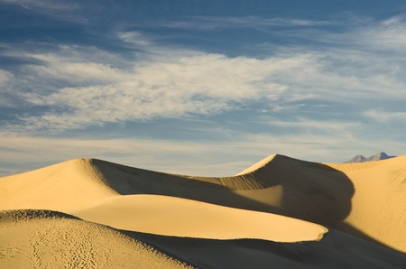 swept: Wind swept sand creating ridges on a Death Valley sand dune in California.