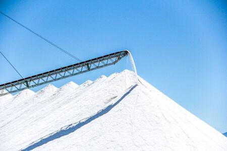 salt mine: Salt mine processing and heavy production crane.