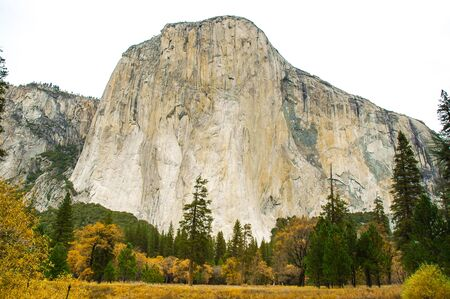 el capitan: The monolith named El Capitan stands proudly over Yosemite Valley.