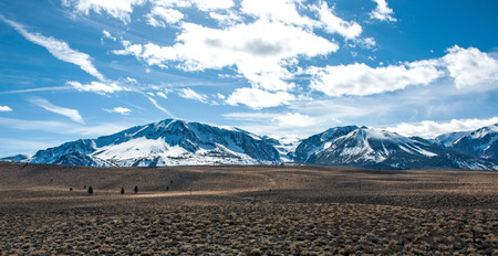 One of the many mountain ranges in the Eastern Sierras. Stock Photo