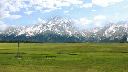 rockclimbing: Grand Teton National Park is a popular destination for mountaineering, hiking, backcountry camping and fishing.