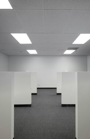 closet door: A prime example of a beautifully designed office inside an office building.