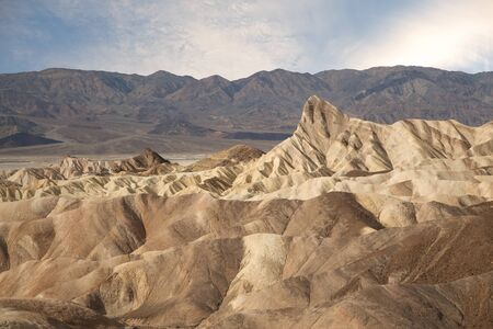 This is the famous landscape area at Zabriskie Point, Death Valley.