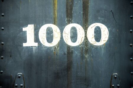 This numbering system identifies a steam locomotive as locomotive 1000.