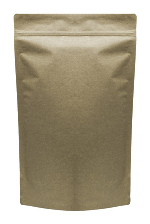 Pharmaceutical bag photographed over a pure white background. Imagens