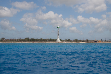 The pylon that greets all visitors to Cozumel island.