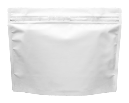 Pharmaceutical bag photographed over a pure white background. Zdjęcie Seryjne