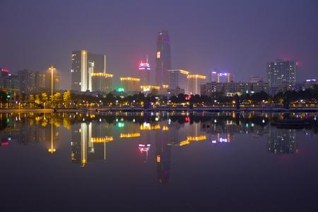 marginal: Dongguan City, the financial center of the night Editorial