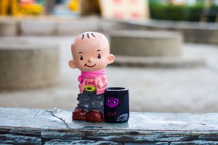 ceramic: ceramic doll Stock Photo