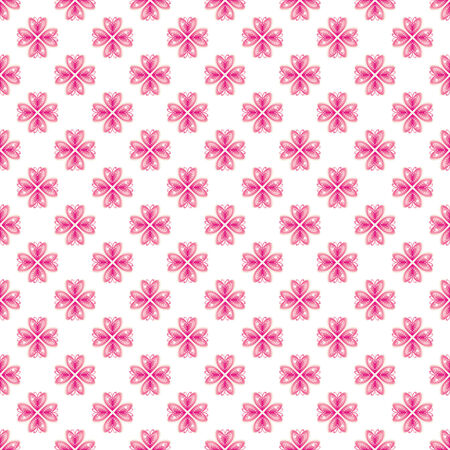 clarify: Pink Valentine Heart Repeating Pattern