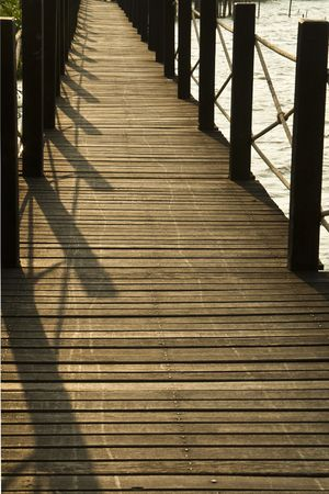 coppice: Wooden bridge Stock Photo