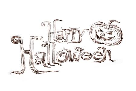 Hand writing Halloween photo
